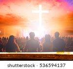 blurred christ cross background | Shutterstock . vector #536594137