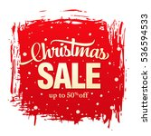 christmas sale banner | Shutterstock .eps vector #536594533