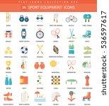 vector sport equipment color... | Shutterstock .eps vector #536597617
