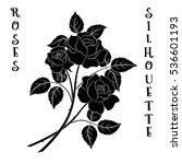 roses bouquet  three black... | Shutterstock . vector #536601193