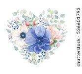 elegant valentines day heart of ... | Shutterstock . vector #536601793