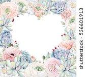 elegant valentines day heart... | Shutterstock . vector #536601913