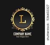 l letter logo  golden monogram... | Shutterstock .eps vector #536602327