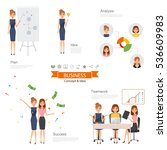 business woman people character ... | Shutterstock .eps vector #536609983