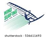 windsurfing. sport emblem | Shutterstock .eps vector #536611693