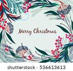 christmas vector card...   Shutterstock .eps vector #536613613