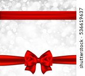 gift card with red bow. vector... | Shutterstock .eps vector #536619637