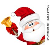 santa claus with gold christmas ... | Shutterstock .eps vector #536619937