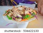 turkish chicken doner kebab ...   Shutterstock . vector #536622133
