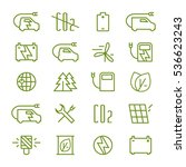 icon set of electric car and...   Shutterstock .eps vector #536623243