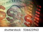 one dollar detail. macro image. | Shutterstock . vector #536623963