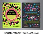 set a5  a4 business brochure... | Shutterstock .eps vector #536626663