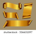 set of gold ribbons.vector... | Shutterstock .eps vector #536631097