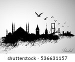istanbul city skyline vector... | Shutterstock .eps vector #536631157