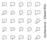 thin line speech  bubble ... | Shutterstock .eps vector #536641903