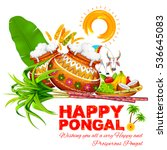 illustration of happy pongal... | Shutterstock .eps vector #536645083