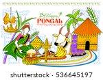 illustration of happy pongal... | Shutterstock .eps vector #536645197