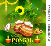 illustration of happy pongal... | Shutterstock .eps vector #536645323