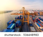 container container ship in... | Shutterstock . vector #536648983