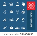 education icon set. vector | Shutterstock .eps vector #536650453