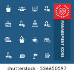 management  businessman icon... | Shutterstock .eps vector #536650597