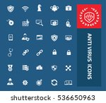anti virus and computer icon... | Shutterstock .eps vector #536650963