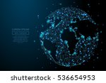 abstract image of a planet... | Shutterstock .eps vector #536654953