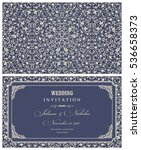 wedding invitation cards in an... | Shutterstock .eps vector #536658373