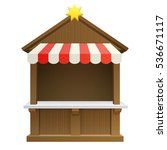 traditional winter christmas... | Shutterstock .eps vector #536671117