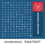 universal web icon set vector | Shutterstock .eps vector #536672047