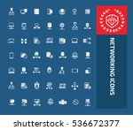 networking icon set vector | Shutterstock .eps vector #536672377