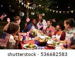 Friends Celebrating 4th Of Jul...