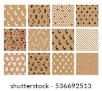 christmas set of vector hand... | Shutterstock .eps vector #536692513