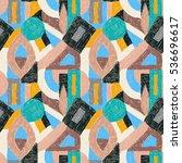 geometric pop art pattern.... | Shutterstock .eps vector #536696617