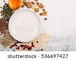 cereal and various delicious... | Shutterstock . vector #536697427