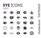 simple modern set of eyes icons.... | Shutterstock .eps vector #536702023