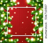 christmas border card design.... | Shutterstock .eps vector #536710507