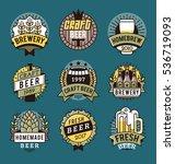 vector line art badge. craft... | Shutterstock .eps vector #536719093