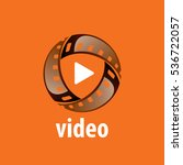 vector logo video | Shutterstock .eps vector #536722057