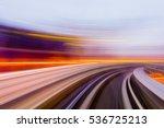 speed motion in urban highway... | Shutterstock . vector #536725213
