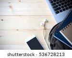top view image of computer... | Shutterstock . vector #536728213