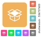 open box icons on rounded... | Shutterstock .eps vector #536737603