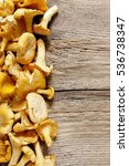 cantharellus cibarius  commonly ...   Shutterstock . vector #536738347