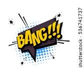 lettering bang  knock. comic... | Shutterstock .eps vector #536741737