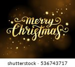 merry christmas text.... | Shutterstock .eps vector #536743717