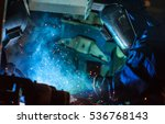 welder industrial automotive... | Shutterstock . vector #536768143