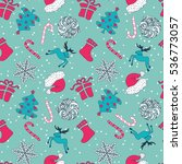 abstract cute holiday christmas ... | Shutterstock . vector #536773057
