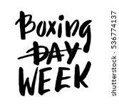 boxing week hand brush... | Shutterstock .eps vector #536774137