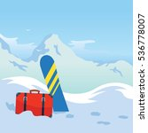 winter tourism. snowboarding in ... | Shutterstock .eps vector #536778007