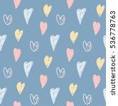 seamless pattern with hearts.... | Shutterstock .eps vector #536778763